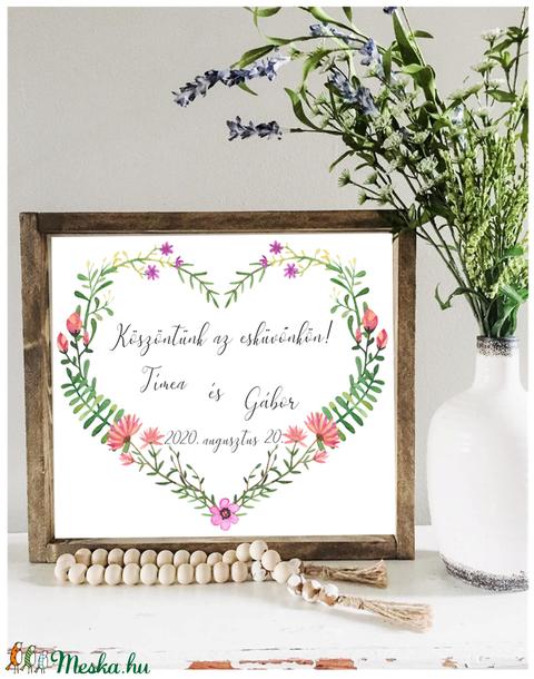 Köszöntünk az esküvőnkön fa dekorációs tábla (TablaArt) - Meska.hu