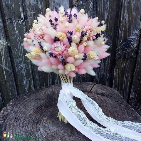 Menyasszonyi csokor szárazvirágból (Tearozsa19) - Meska.hu