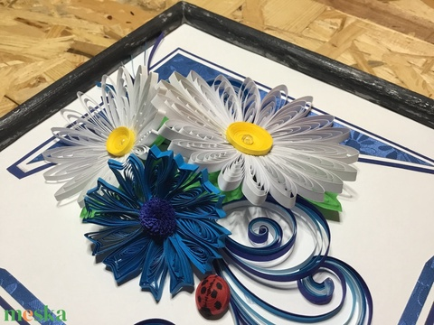 Virágos quilling fa kerettel (Teniko87) - Meska.hu