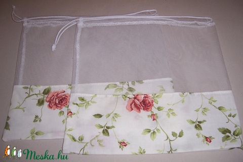 Textilzsák 2 db-os szett rózsa mintás (textilcseppek) - Meska.hu