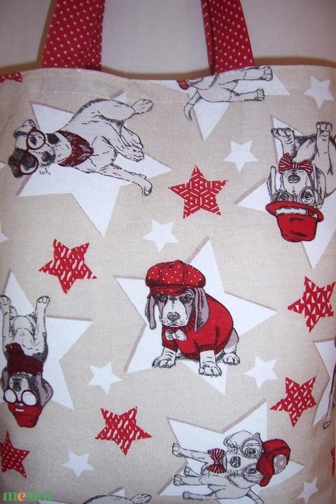 Kutya mintás táska piros - Meska.hu