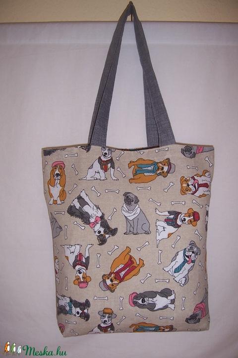 Színes kutya mintás táska  (textilcseppek) - Meska.hu