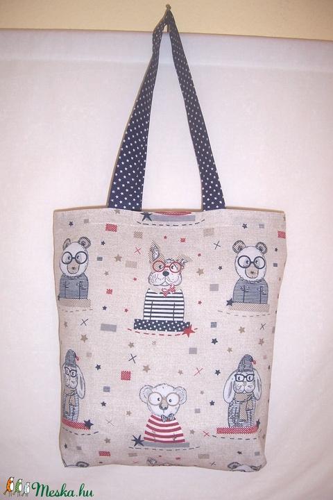 Textiltáska állatos (textilcseppek) - Meska.hu