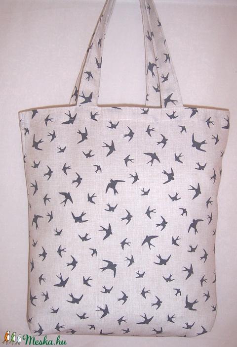 Madár mintás táska  (textilcseppek) - Meska.hu