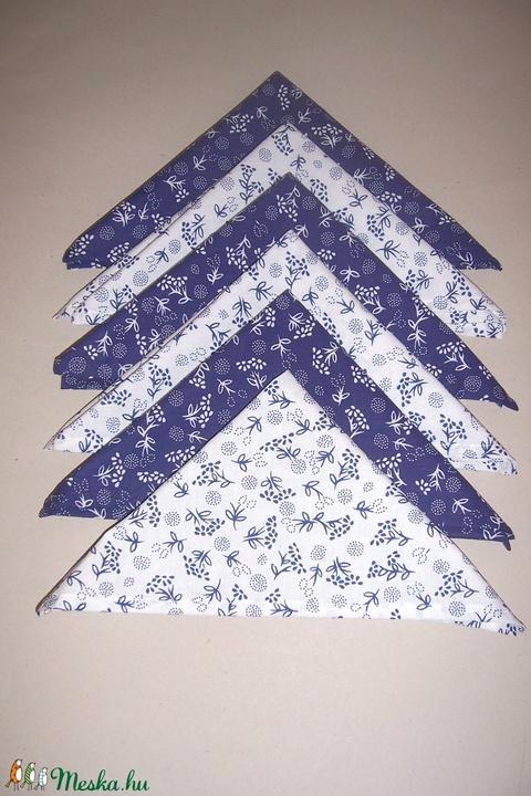 Textil szalvéta 6 db kékfestő mintás  (textilcseppek) - Meska.hu