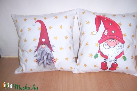 Csillagos manós párna  (textilcseppek) - Meska.hu