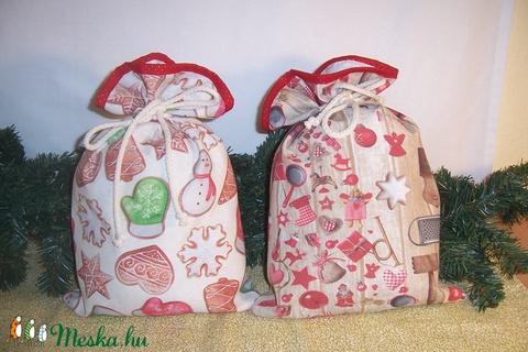 Ajándék átadó textilzsák fenyőfás (textilcseppek) - Meska.hu