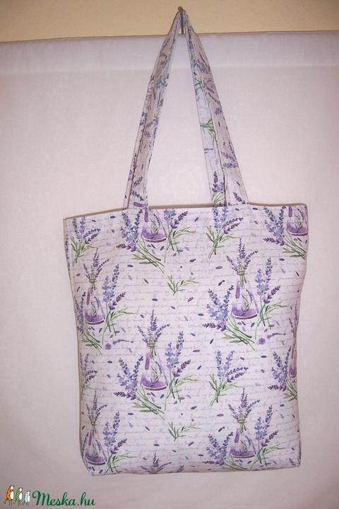 Levendula mintás táska  (textilcseppek) - Meska.hu