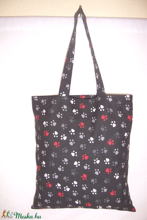 Fekete tappancs mintás táska  (textilcseppek) - Meska.hu
