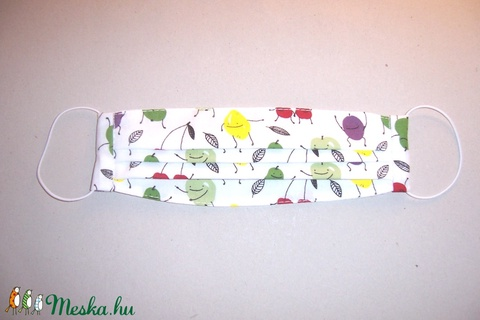 Textilmaszk vidám gyümölcsök mintás (textilcseppek) - Meska.hu