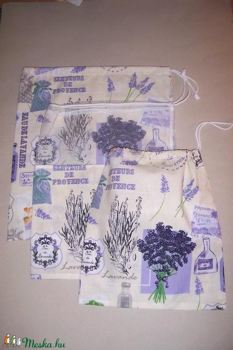 Textilzsák 3 db-os szett levendula  (textilcseppek) - Meska.hu