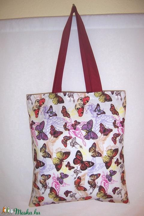 Színes pillangó mintás táska  (textilcseppek) - Meska.hu