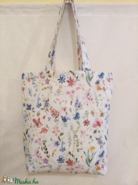 Tarka virág mintás táska  (textilcseppek) - Meska.hu