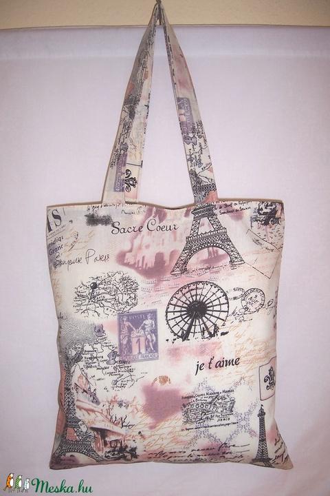 Párizs mintás táska  (textilcseppek) - Meska.hu