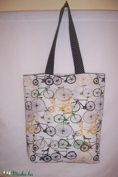 Bicikli mintás táska  (textilcseppek) - Meska.hu