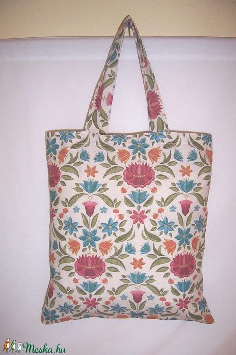 Virág mintás táska normál füllel  (textilcseppek) - Meska.hu