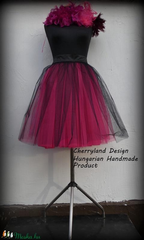 Cherryland Design Pink Árnyalat  Tüll Szoknya/ Pink Shades Tulle Skirt - ruha & divat - női ruha - szoknya - Meska.hu