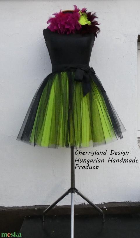 Cherryland Design Neon Zöld Árnyalat  Tüll Szoknya˛/ Neon Green Shades Tulle Skirt (textilmester) - Meska.hu