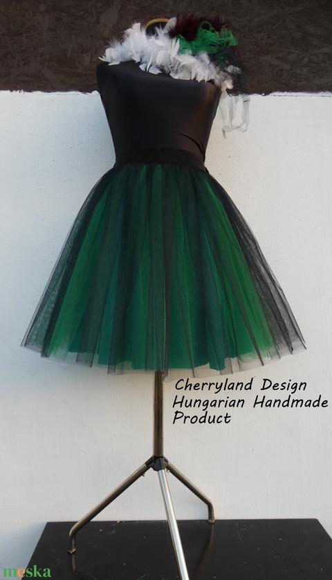 Cherryland Design  Zöld Árnyalat Tüll Szoknya/Green Shades Tulle Skirt. (textilmester) - Meska.hu