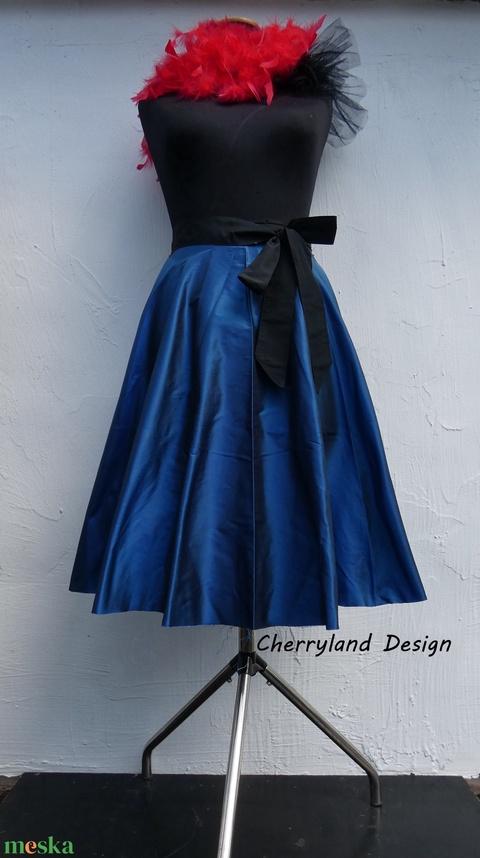 Cherryland Design Kék Taft szoknya. - Meska.hu