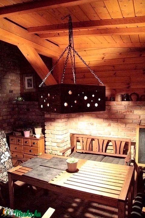Függő lámpa, Rusztikus függő lámpa, FA függeszték (TomArtCollection) - Meska.hu