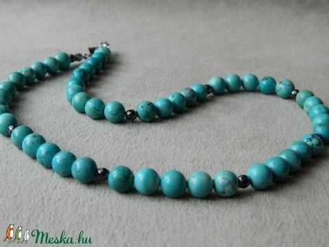 Türkiz színű ásvány nyakék - Meska.hu