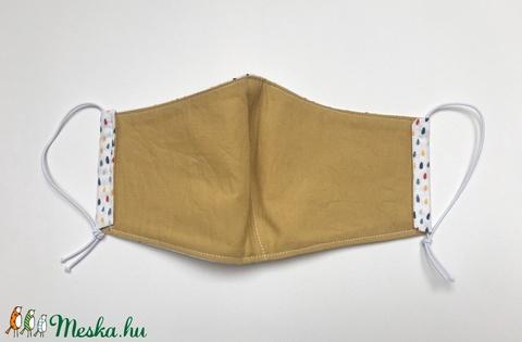 Színes esőcsepp mintás maszk, gyerek vagy kisebb felnőtt méret / Pöttyös arcmaszk - Meska.hu