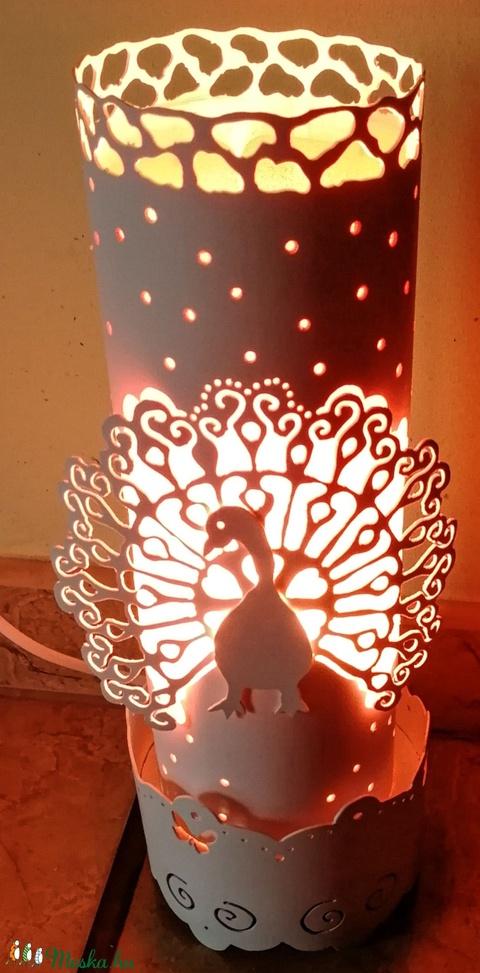 Páva-lámpa (Topi555) - Meska.hu