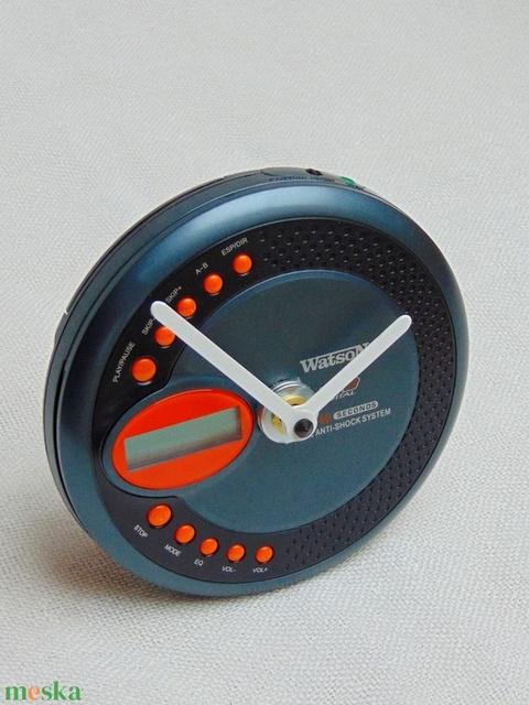 Retro Watson MP3 walkman CD lejátszó aszali vagy fali óra zenészeknek, DJ -nek, zene rajongóknak, férfiaknak - 3 (Trashman) - Meska.hu