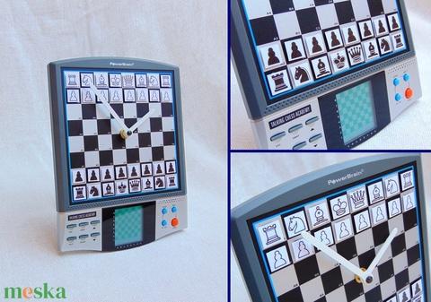 Sakk gép sakktábla fali és asztali óra hagyományos játékra alkalmas mágneses sakkfigurákkal sakkozóknak (Trashman) - Meska.hu