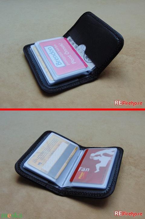 Tűzoltó tömlő strapabíró bankkártya névjegykártya irattartó biztonságos kártya tartó 24 + 2 kártya számára - PROMETHEUS (Trashman) - Meska.hu