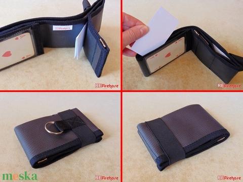 Fekete férfi pénztárca tűzoltó tömlőből bankkártya névjegy irattartó hasznos és praktikus ajándék férfiaknak férjeknek (Trashman) - Meska.hu