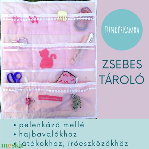 Zsebes tároló - hajcsatokhoz, íróeszközhöz, pelenkázóhoz - Meska.hu