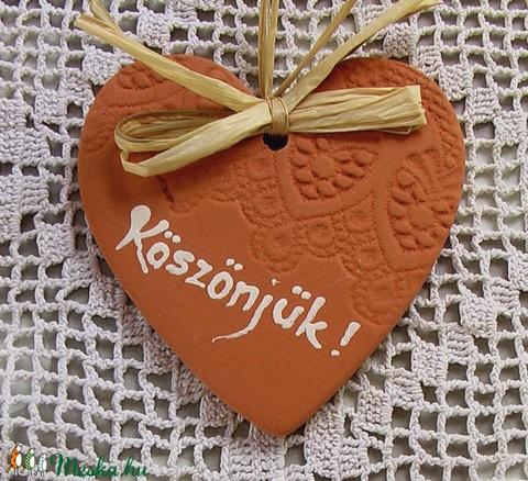 Köszönet ajándék szív natúr (tunderkert67) - Meska.hu