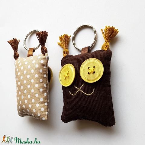 Szerelmes Hiúzok - 2db textil kulcstartó egy csomagban - Meska.hu