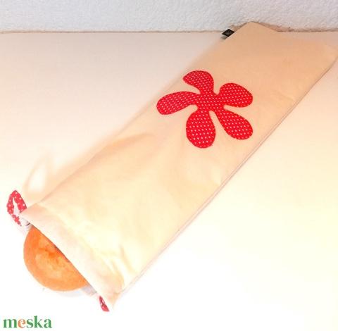 Baguettes zsák (piros pöttyös) (unitadesign) - Meska.hu
