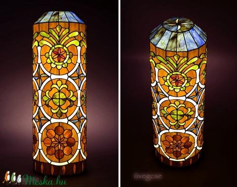 Életfa üvegcse - tiffany állólámpa (uvegcse) - Meska.hu