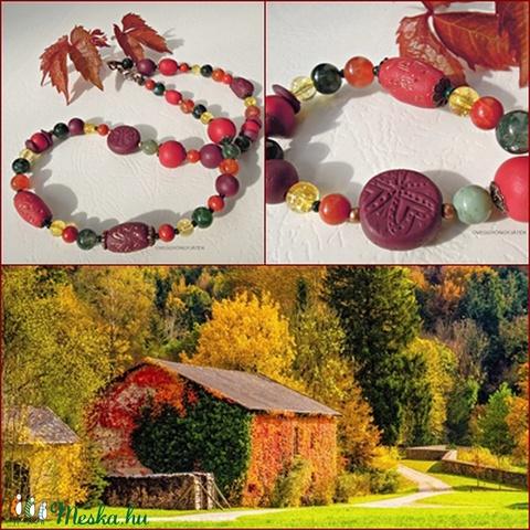 Vidéki ősz  -  nyaklánc ásványokkal (uveggyongyjatek) - Meska.hu