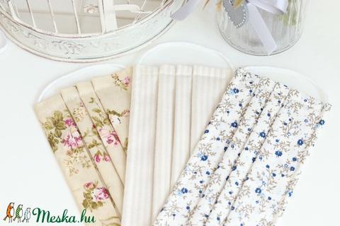 Arcmaszk szűrőtartóval szájmaszk dupla rétegű 100% pamut mosható vasalható újra használható, puha gumival zöld rózsás (Varrazslat) - Meska.hu