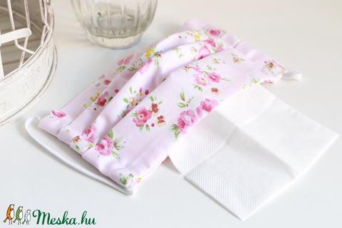 Arcmaszk szűrőtartóval szájmaszk dupla rétegű 100% pamut mosható vasalható újra használható, puha gumival skék-fehér (Varrazslat) - Meska.hu