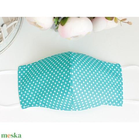 Extra Akció! Kényelmes felnőtt maszk dupla 2 réteg pamut mosható vasalható újra használható puha gumival türk.pöttyös - Meska.hu
