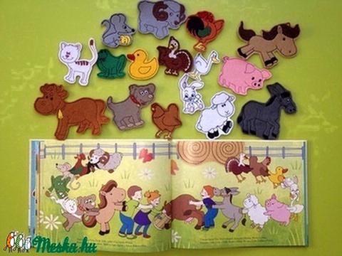 Farm kollekció - 30 db mágneses játék saját mesekönyvvel (Vavilokids) - Meska.hu