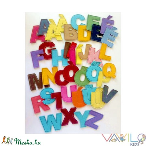 ABC - 41 db mágneses betű (Vavilokids) - Meska.hu