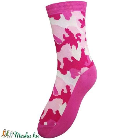 Pink terepmintás zokni - Meska.hu