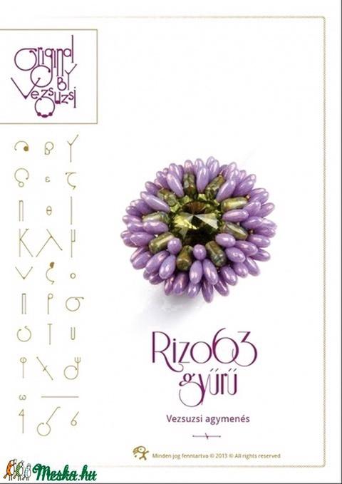 Rizo63 gyűrű... minta egyéni felhasználásra (vezsuzsiminta) - Meska.hu