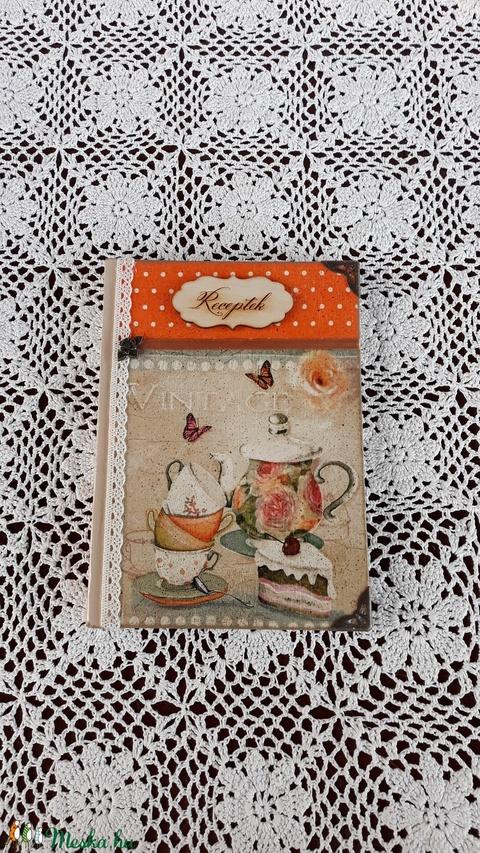 Receptfüzet vintage sütis képpel (vintageajandek) - Meska.hu