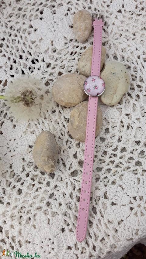 Üveg  karkötő rózsaszín (vintageajandek) - Meska.hu