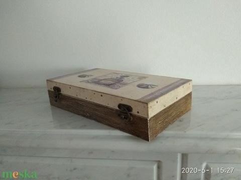 Vintage levendulás ékszertartó doboz/varrós doboz (vintageajandek) - Meska.hu