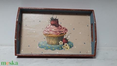 Vintage stílusú sütis tálca fából (vintageajandek) - Meska.hu