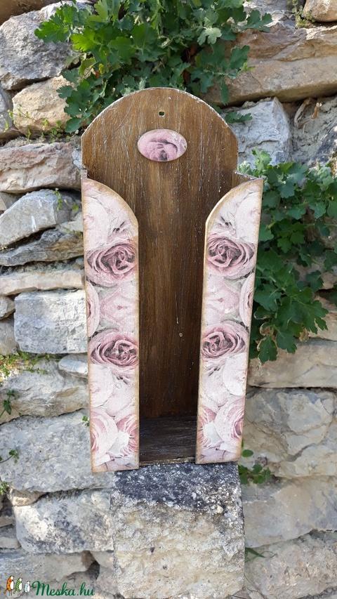 Vintage rózsás zsebkendőtartó (vintageajandek) - Meska.hu